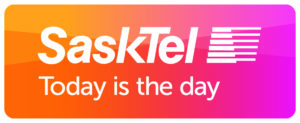 """SaskTel Logo """"Today is the Day"""""""